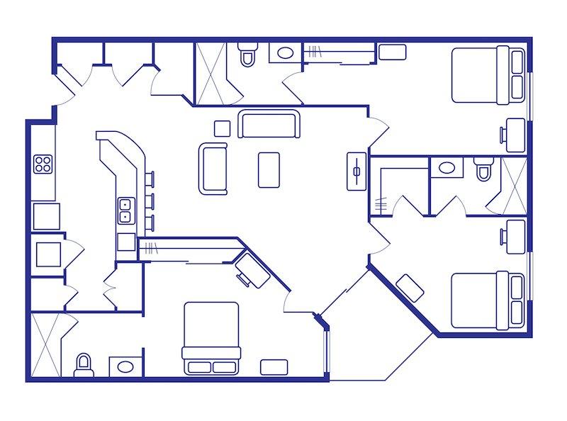 3 Bedroom & Bathroom Off Campus Housing